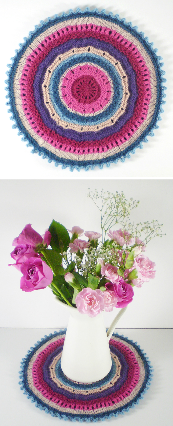 Free Knitting Pattern for Mandala