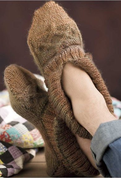 Knitting Pattern for Easy Manitoba Slippers