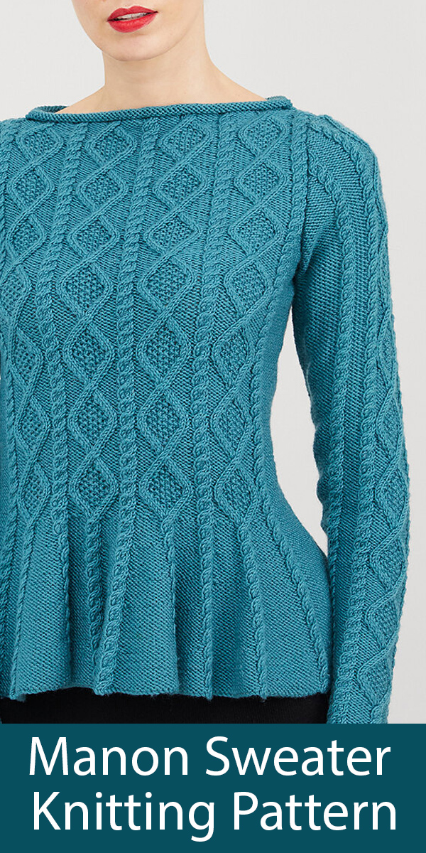 Knitting Pattern for Manon Sweater by Debbie Bliss