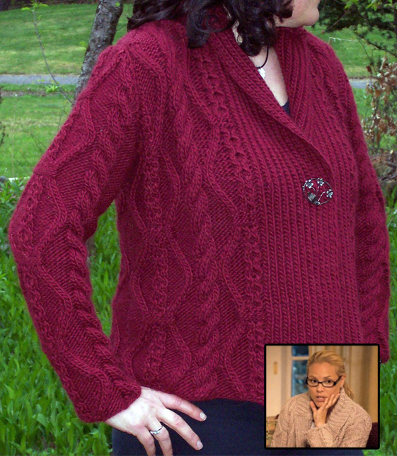 Free Knitting Pattern for Mansfield Park Cardigan