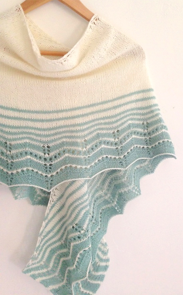Free Knitting Pattern for Easy Marcelle Wrap