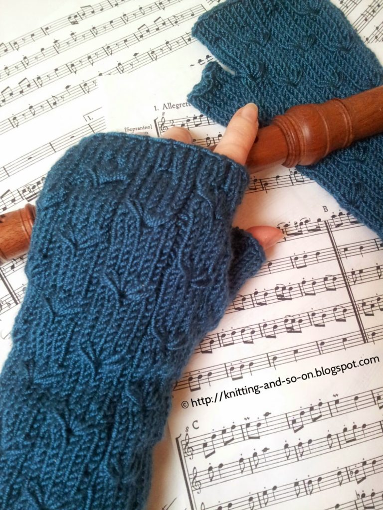 Free Knitting Pattern for Margarete Fingerless Gloves