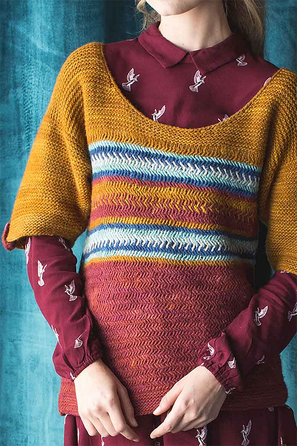 Knitting Pattern for Herringbone Margot Top
