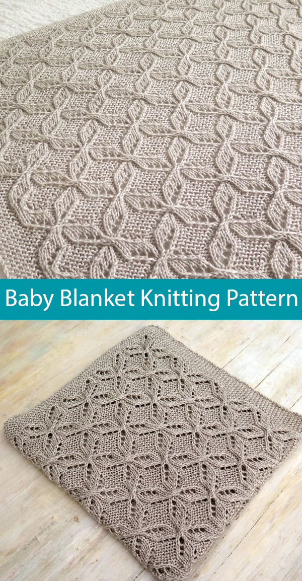 Knitting Pattern for Mariele's Cable Lace Baby Blanket