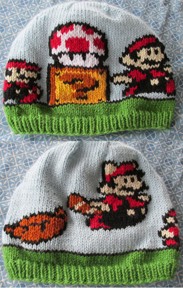 Free knitting pattern for Mario Transformation Hat 51bc908cc56