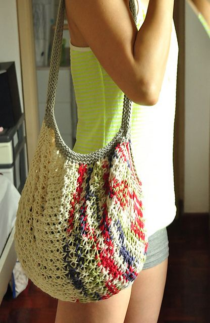 Free knitting pattern for Market Bag tote