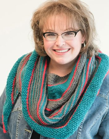 Free knitting pattern for easy Garter Stitch Shawl from Marly Bird