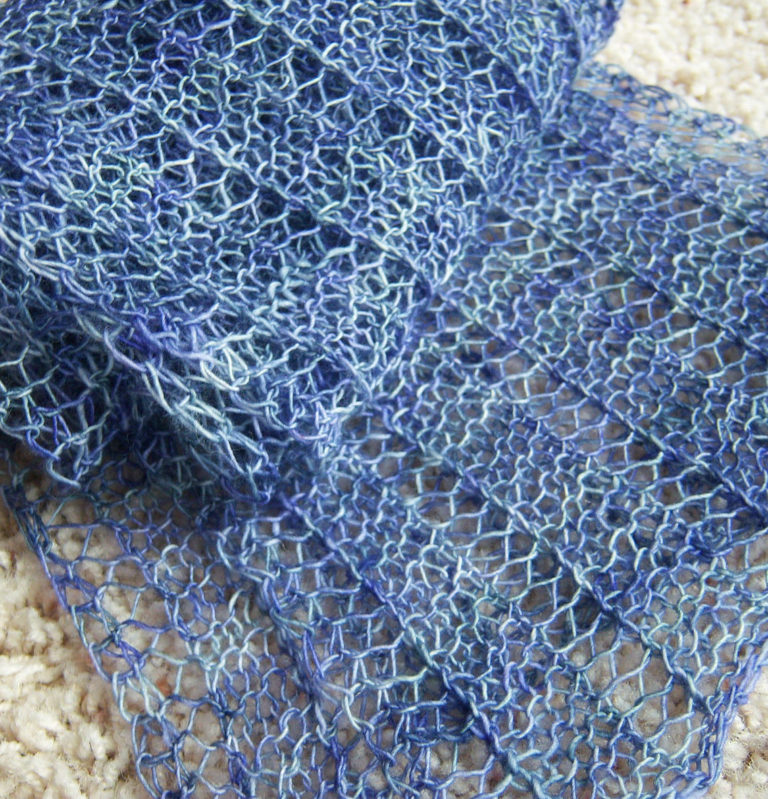 Free Knitting Pattern for One-Row Repeat Marmalade Scarf