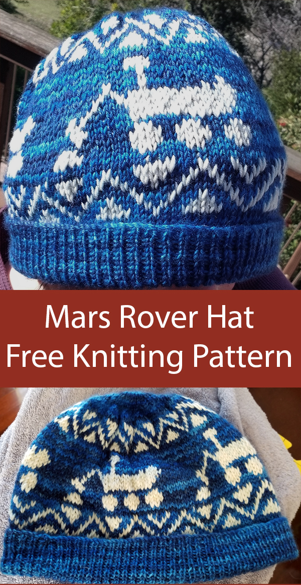 Free Knitting Pattern for Mars Rover Hat