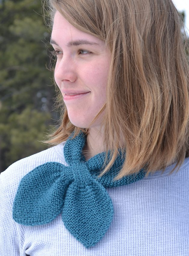 Free knitting pattern for Martha Stewart Neck Wrap