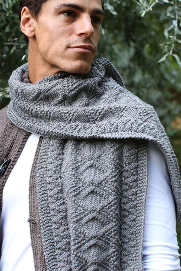 Knitting Pattern for Martin Scarf