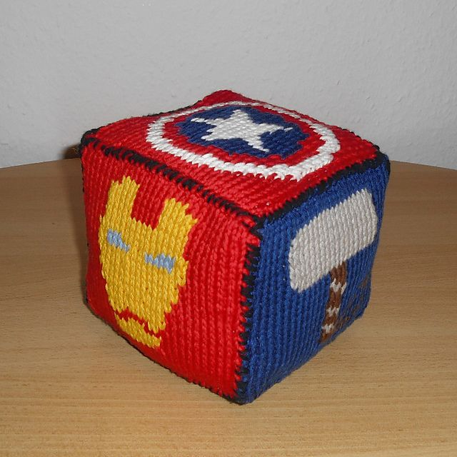 Free knitting pattern for Marvel Roll the Dice
