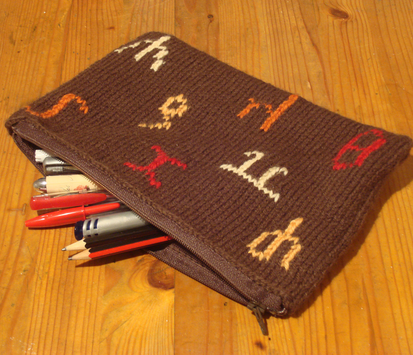 Free Knitting Pattern for Maths Pencil Case