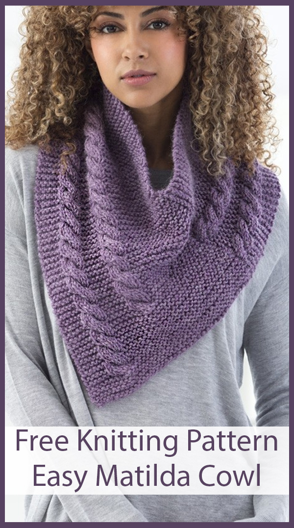 Free Knitting Pattern for Easy Matilda Cowl