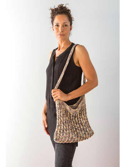 Matese Purse Knit Pattern | Free Knitting Patterns for Bags, Purses, and Totes at https://intheloopknitting.com/bag-purse-and-tote-free-knitting-patterns/
