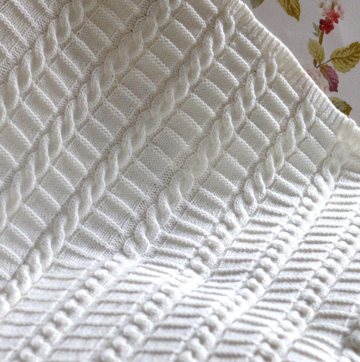 Knitting Pattern for Easy Cable Blanket