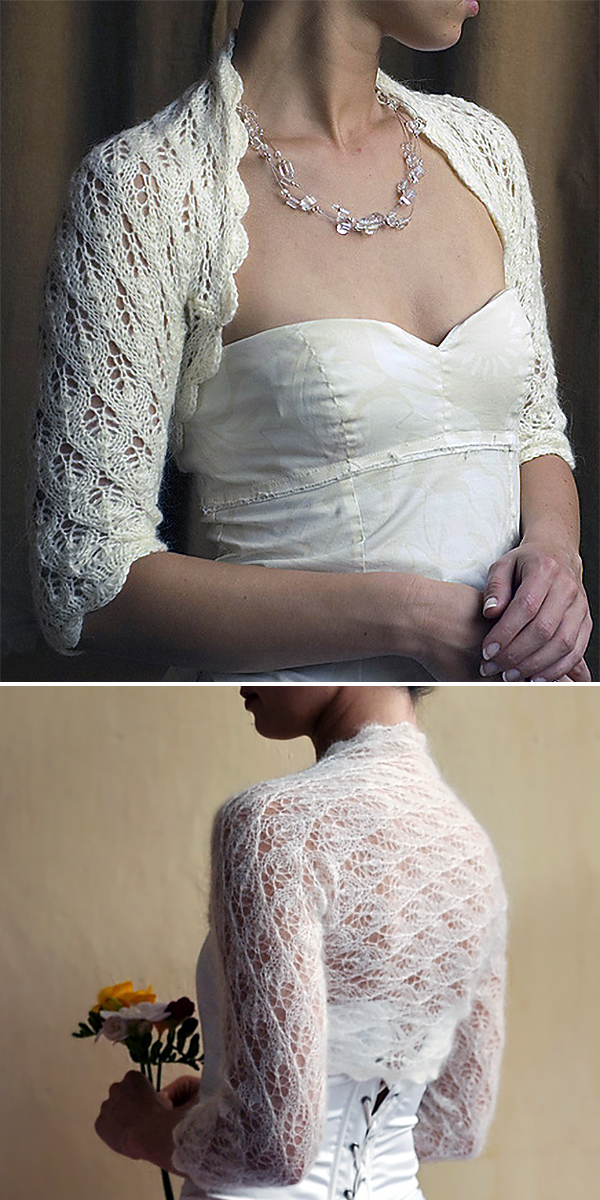Free Knitting Pattern for Wedding Bolero
