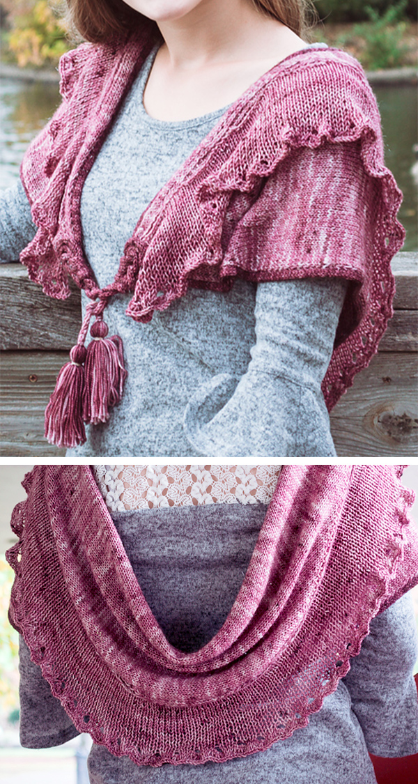 Knitting Pattern for Chanteuse Shawl