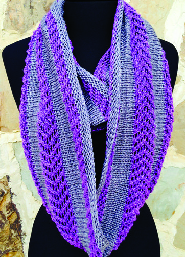 Knitting Pattern for Maverick Cowl Infinity Scarf
