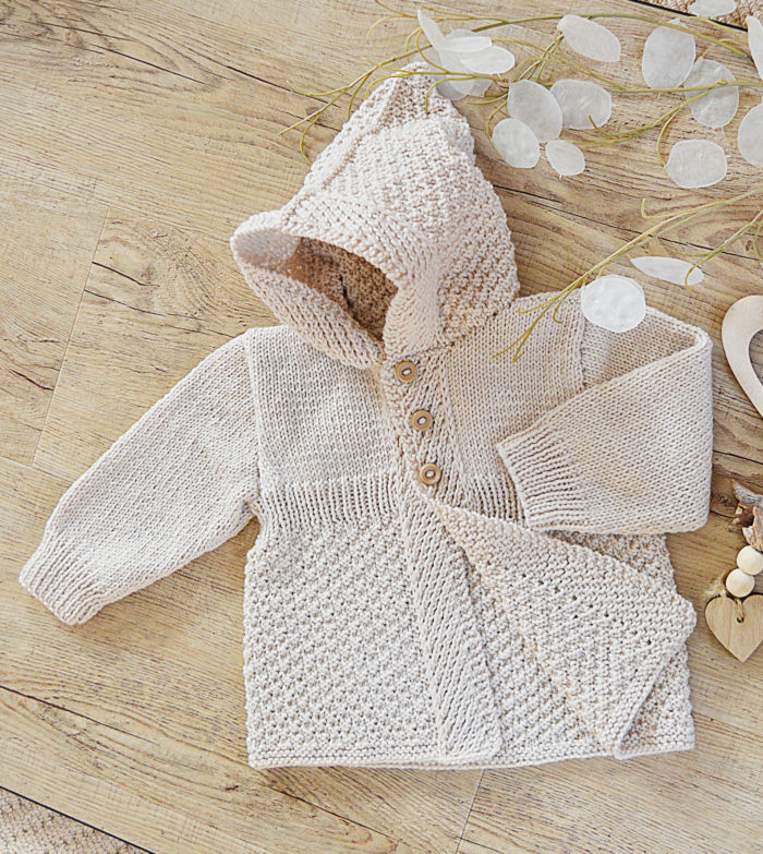 Knitting Pattern for Mayfair Lane Baby Coat With Hood
