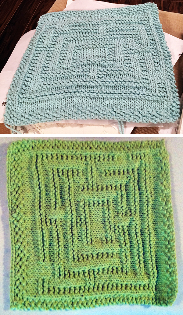 Free knitting pattern for Maze Dishcloth