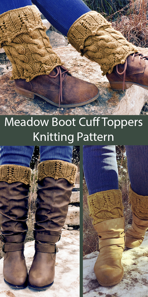 Knitting Pattern for Meadow Boot Cuff Toppers