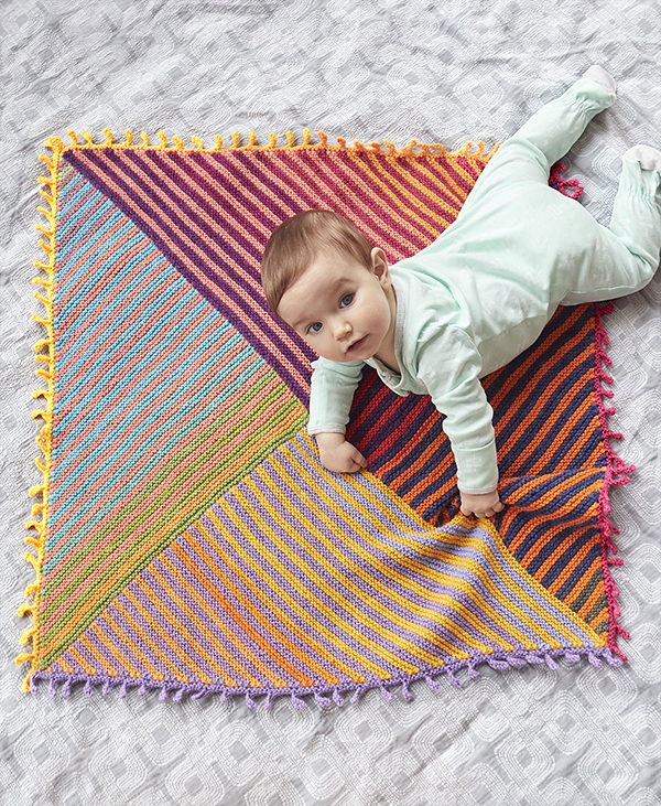Free knitting pattern for Meadowland Baby Blanket