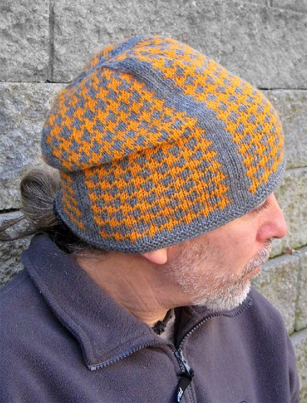 Knitting Pattern for 4 Row Repeat Melodic Hat