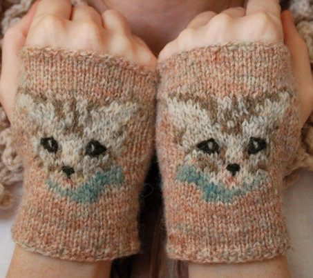Knitting Pattern for Meow Mitts