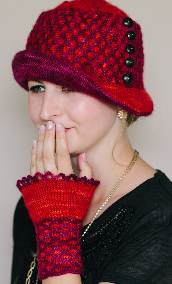 Knitting Pattern for Mercy Cloche and Mitts