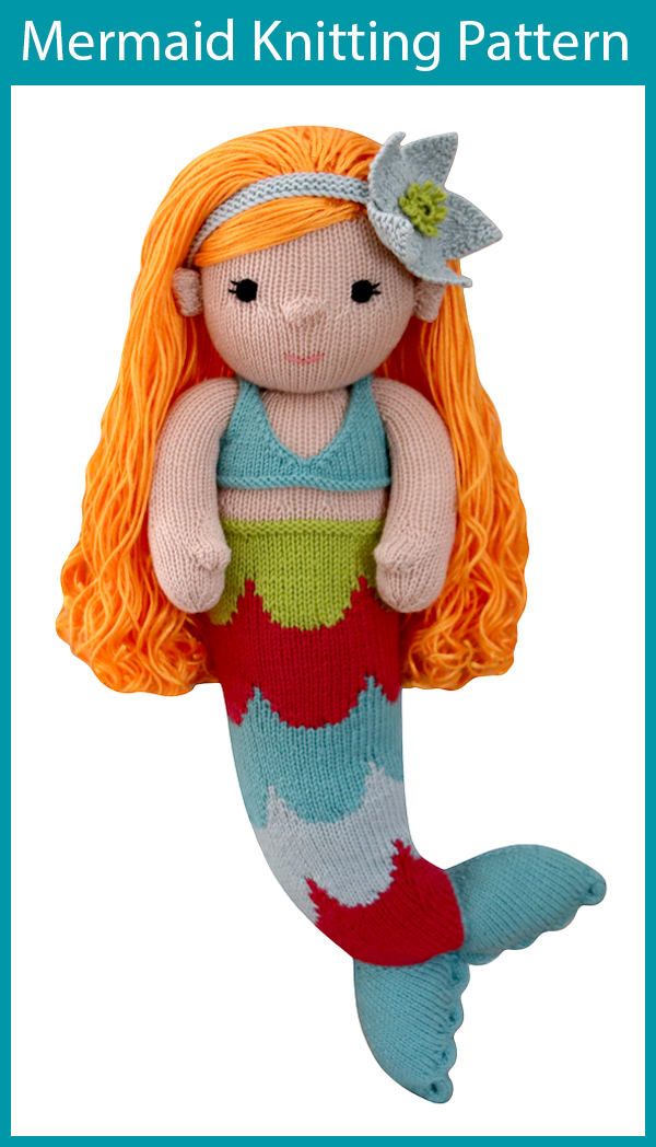 Knitting pattern for Mermaid Toy