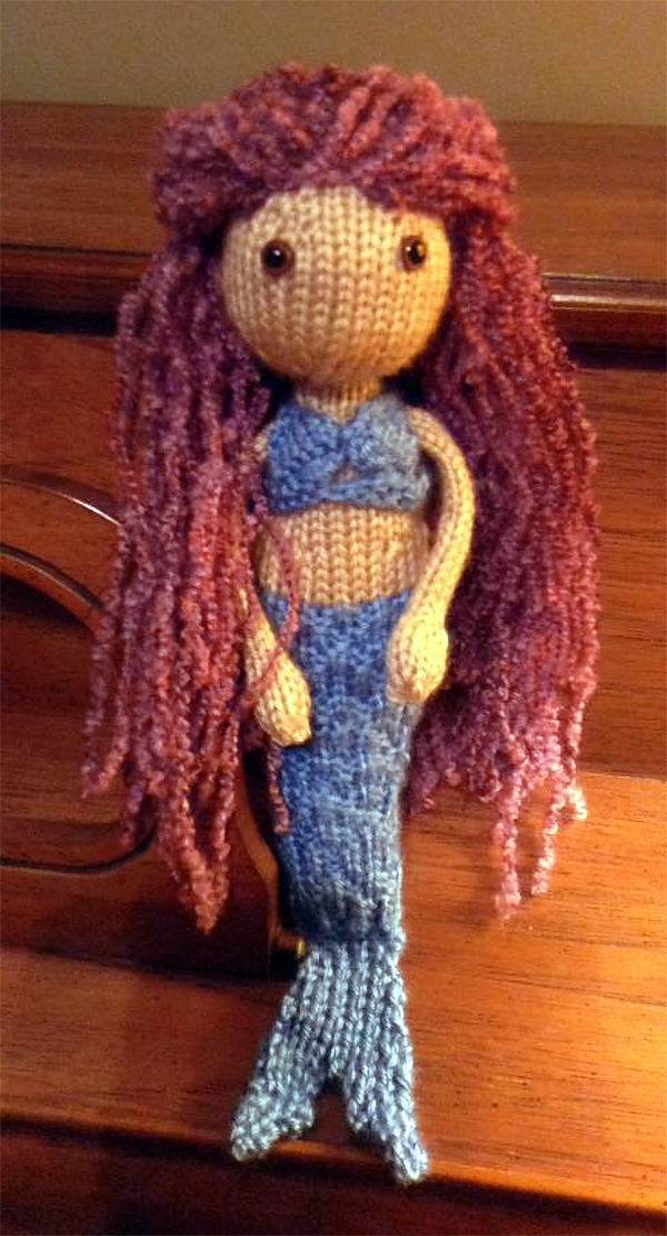 Free Knitting Pattern for Mermaid Toy