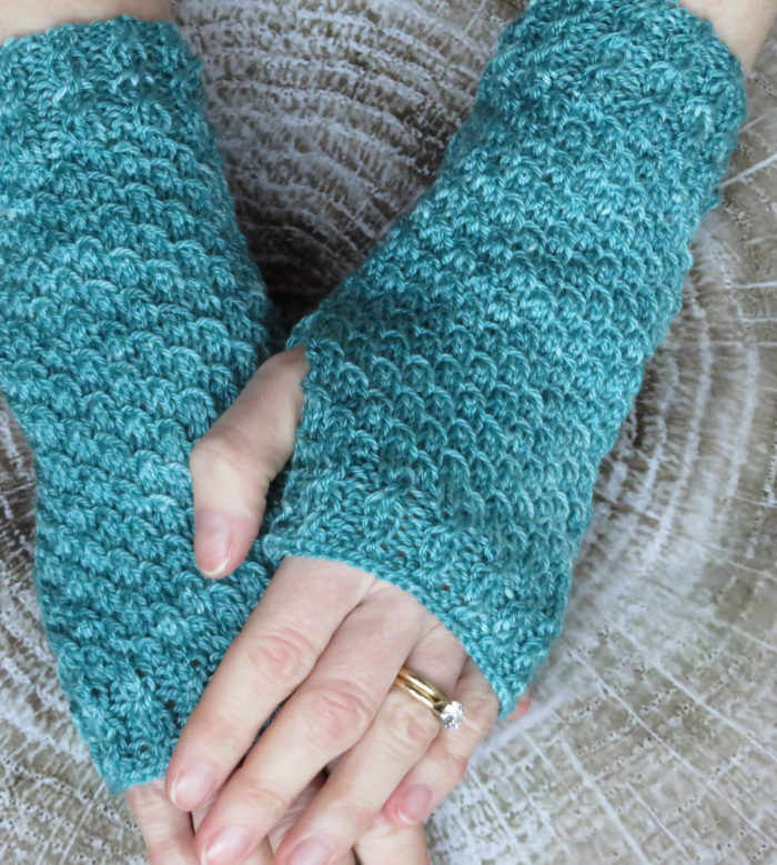 Knitting Pattern for Easy Mermaid Scales Mitts