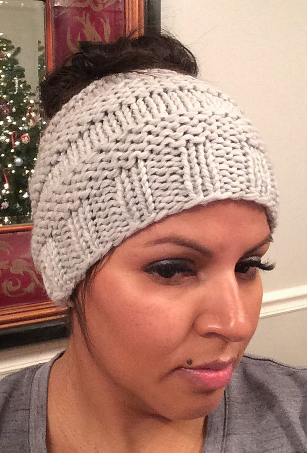 Free Knitting Pattern for Messy Bun Hat