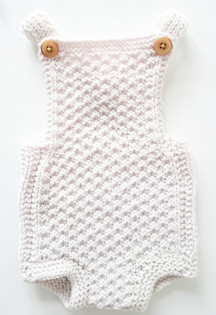 Knitting Pattern for Mia Baby Romper