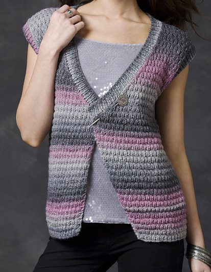 Free Knitting Pattern for Midnight Sky Vest