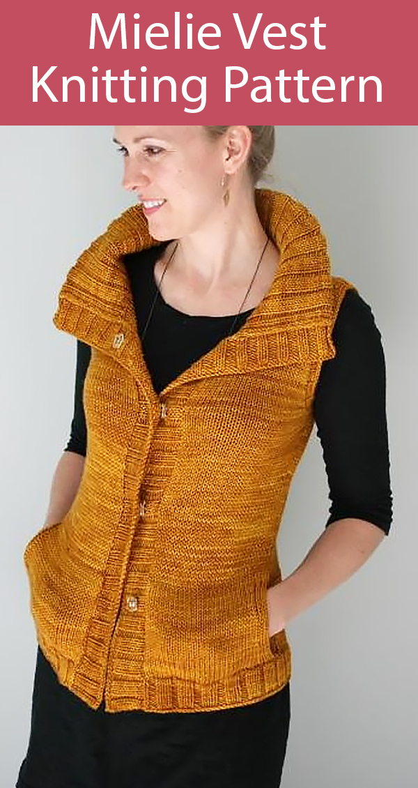 Knitting Pattern for Mielie Vest