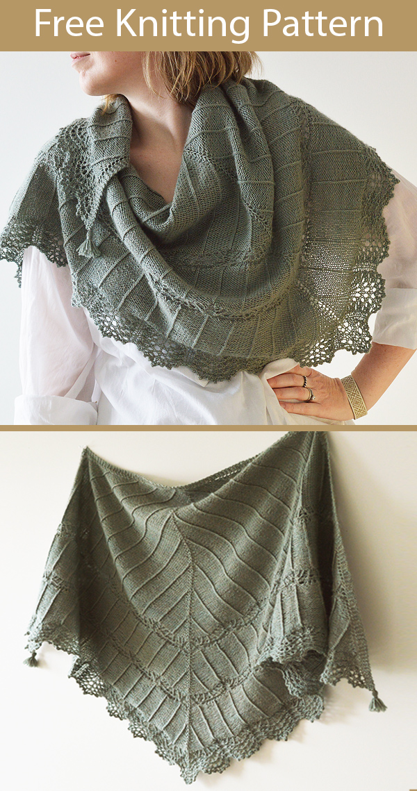 Free Knitting Pattern for Migla Shawl