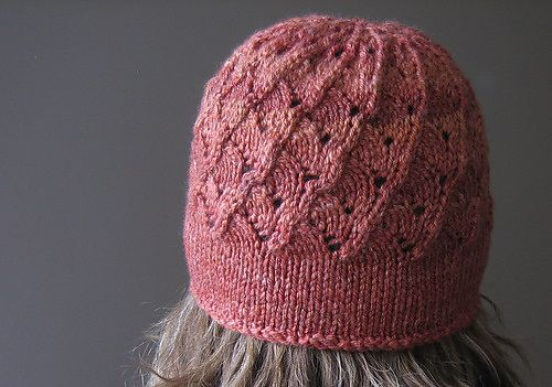 Free knitting pattern for Milanese Lace Topper and more beanie hat knitting patterns