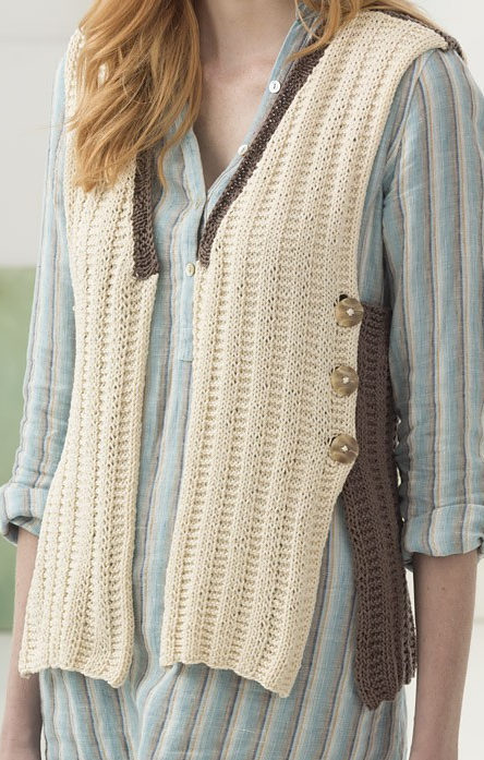 Free Knitting Pattern for Easy Milford Vest