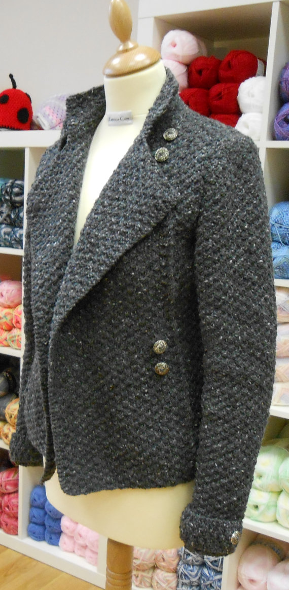 Military Style Jacket Knitting Pattern