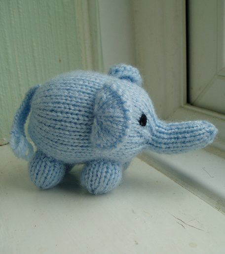 Free knitting pattern for Mini Elephant toy