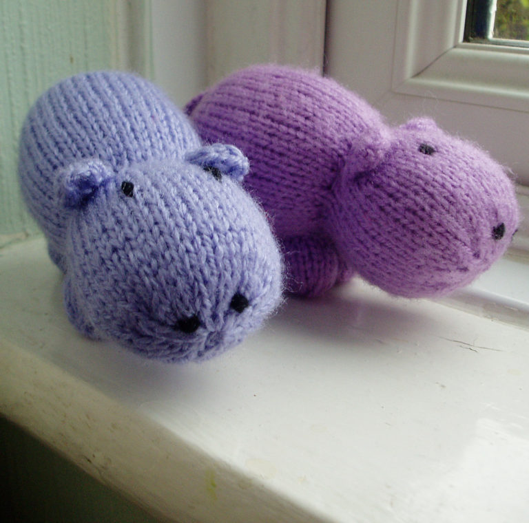 Free Knitting Pattern for Mini Hippo