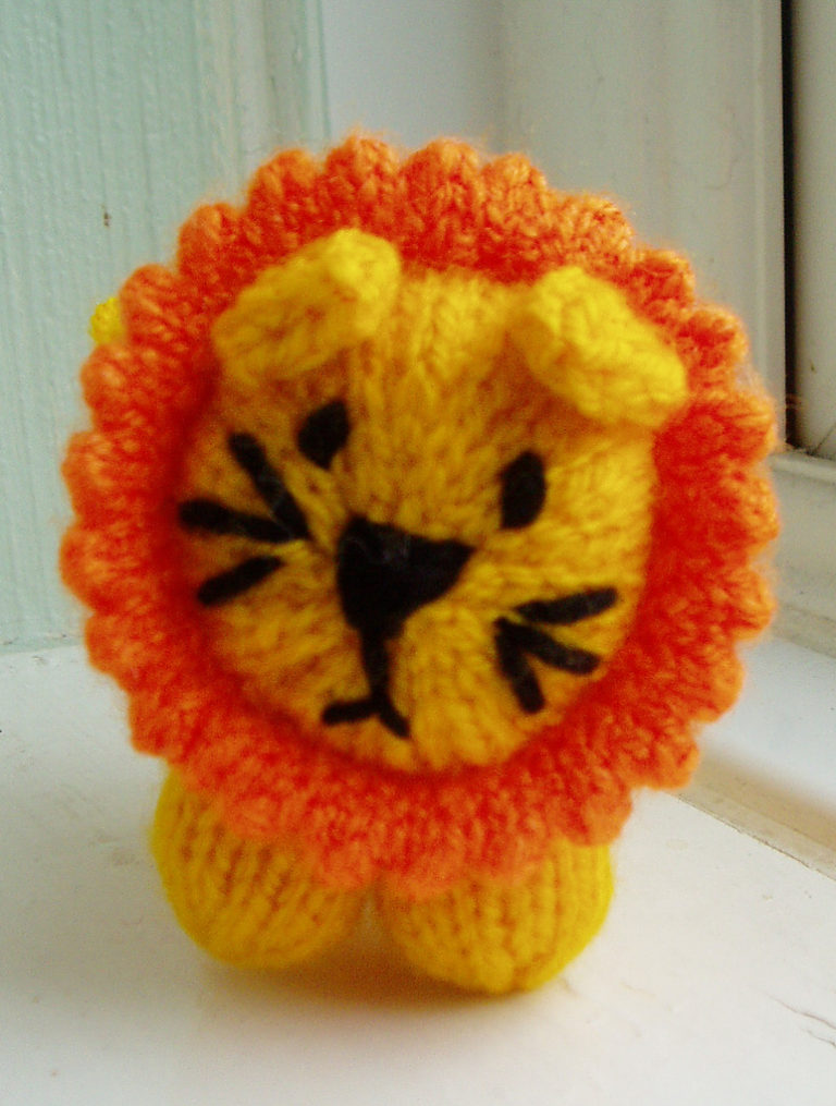 Free Knitting Pattern for Mini Lion Toy