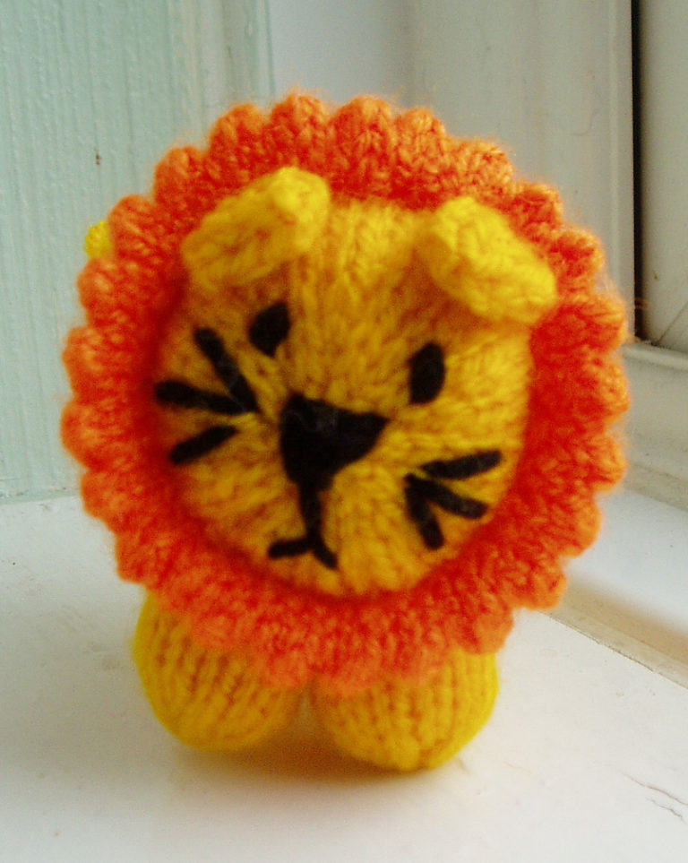 Free Knitting Pattern for Mini Lion