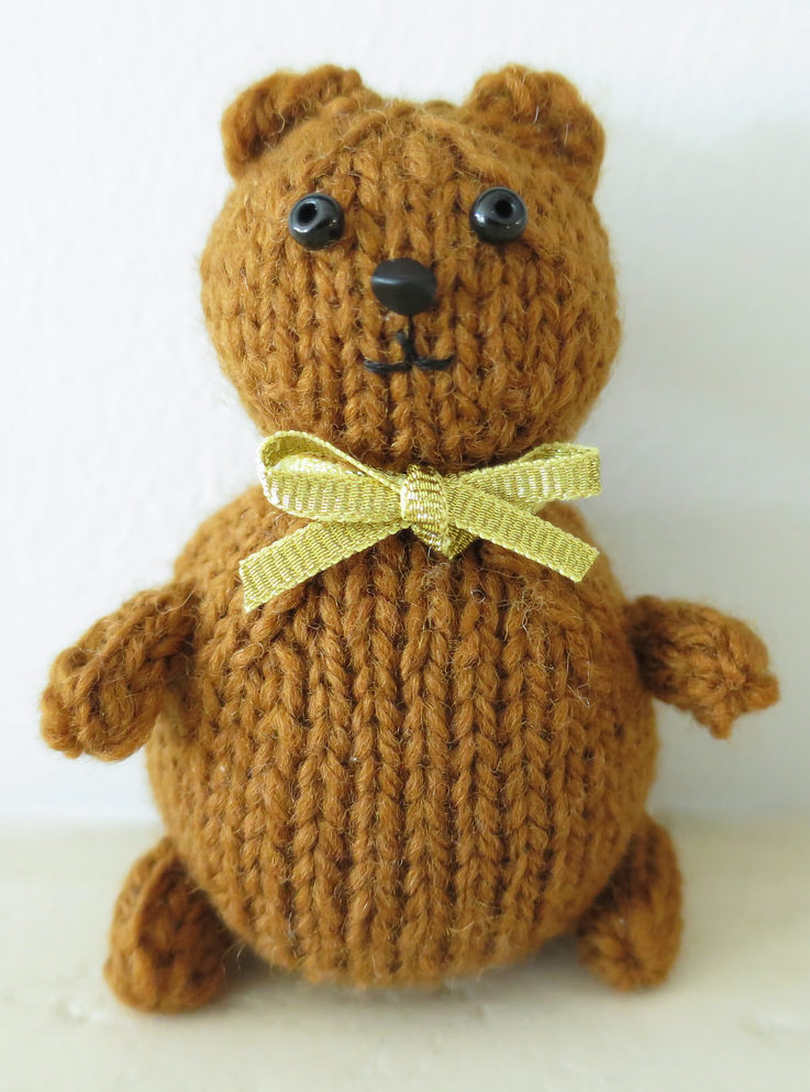 Free Knitting Pattern for Mini Teddy Bear