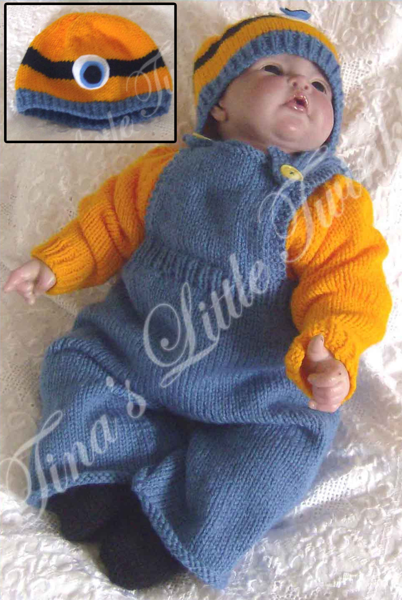 Knitting Pattern for Minion Baby Set