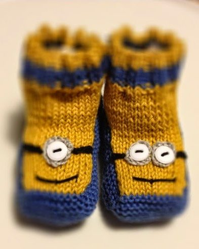 Free Knitting Pattern for Minion Booties