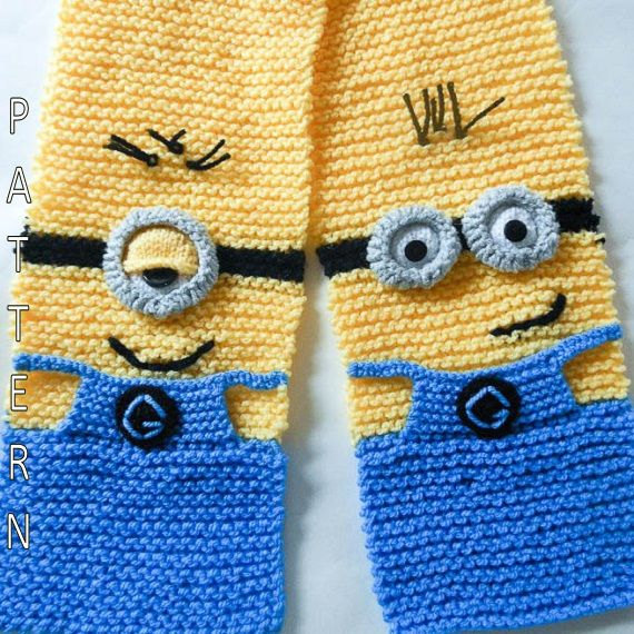 Minion Scarf Knitting Pattern
