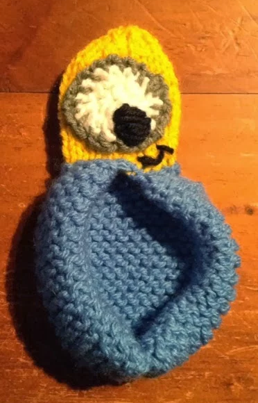 Free Knitting Pattern for Minion Slippers